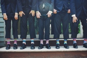 trouwreportage, bruidegom creatief bruiloft foto
