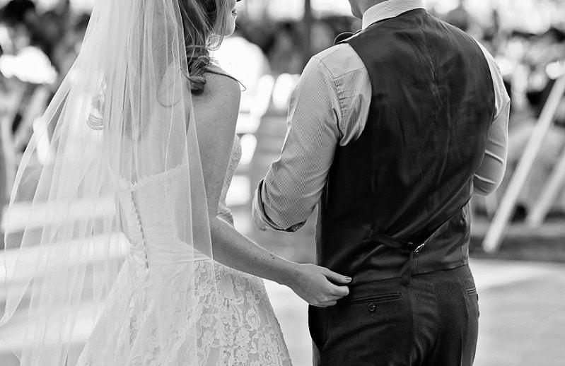 Bruiloft, zwart-wit fotografie, bruidspaar