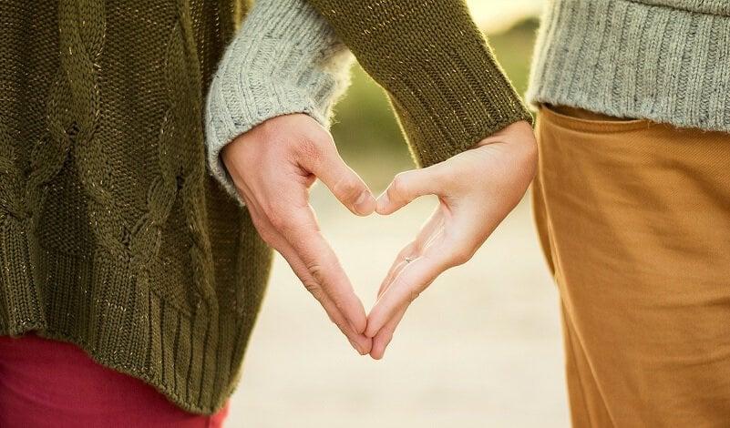 Love shoot, hart, handen