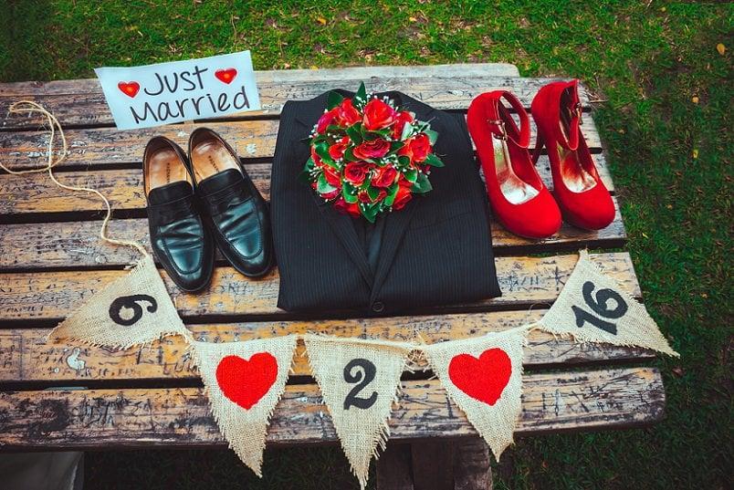 Overzicht accessoires bruid en bruidegom