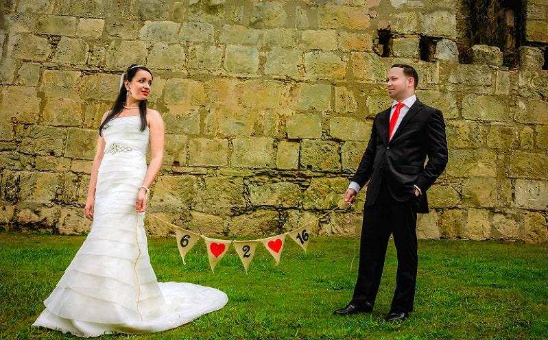 Datum bruiloft, bruidspaar