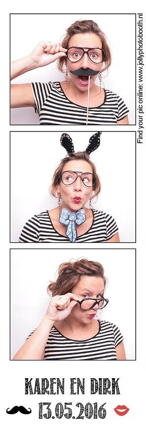 dubbele fotostrip Jolly Photobooth