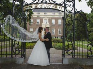 Huwelijksfotograaf Amersfoort, sluier bruid, Faizel