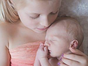 Newborn shoot Groningen - Ingrid, Broer en zus