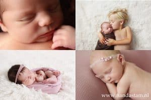 Newborn shoot Groningen - Nanda, newborn baby fotoshoot