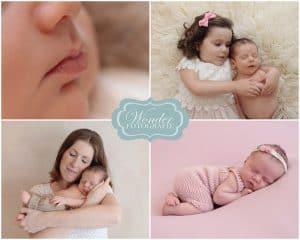 Newbornfotografie Almere Flevoland - Fenna, baby met mama en zusje
