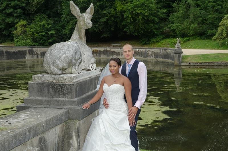 Betaalbare trouwfotograaf België Brussel, trouwreportage park, Tiana