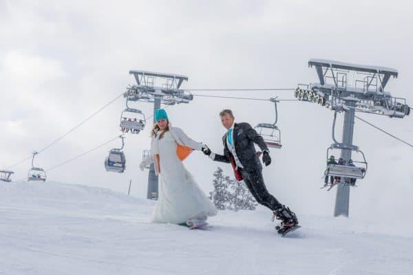 Bruidsfotograaf Oostenrijk, sneeuw bruidspaar, Dick