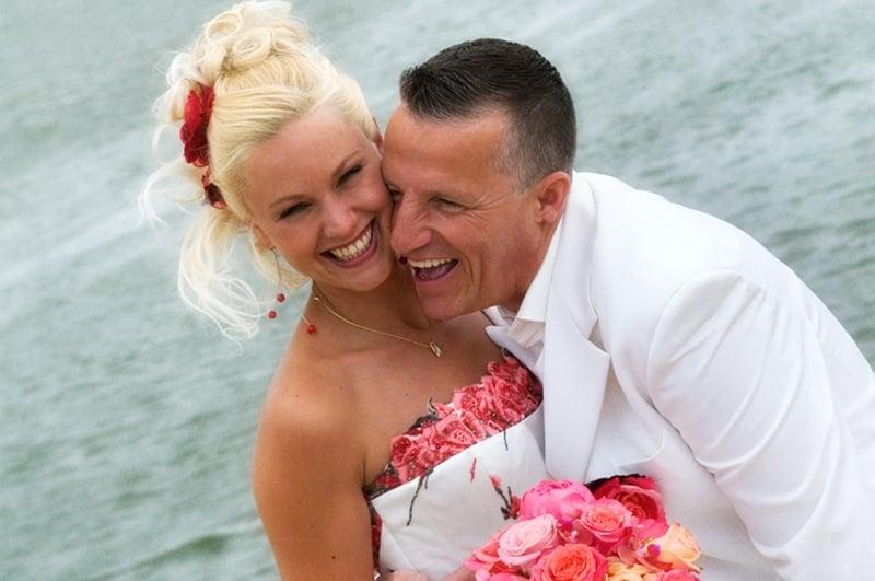 Fotografie huwelijk Gouda, bruidspaar bruidsboeket, Stefan
