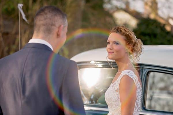 Goedkope bruidsfotograaf Eindhoven Brabant, trouwauto, Gea en Ed
