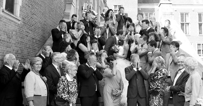 Goedkope bruidsreportage bruiloft Leiden, Marline