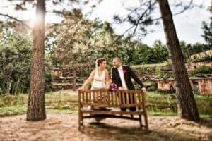 Trouwfotograaf Sittard, bruidspaar bos trouwreportage, Eric