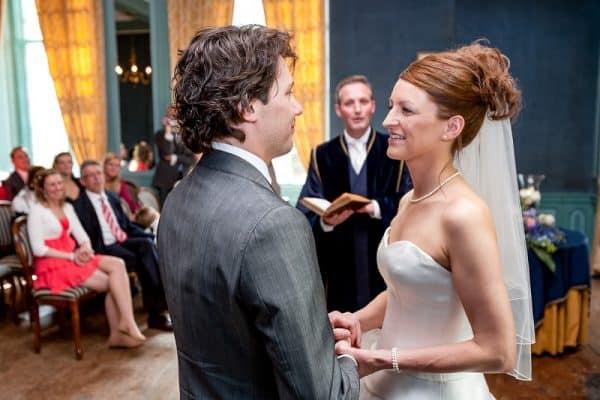 Betaalbare bruidsreportage Friesland, ceremonie huwelijk, Fonger