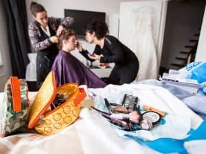 Trouwfotograaf Friesland Texel, bruid bruidsvisagie bruidskapsel, Fonger