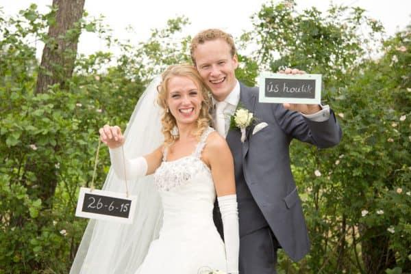 Goedkope trouwfotograaf Friesland, bruid en bruidegom, Lex