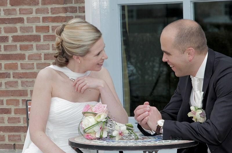 Bruidspaar bruidsboeket, Oosterhout, FRans