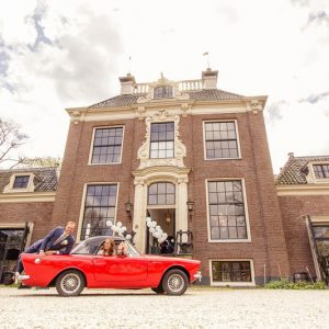 Trouwen op een landgoed, bruidsauto, Utrecht, Mijntje